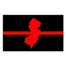 New Jersey Thin Red Line Decal
