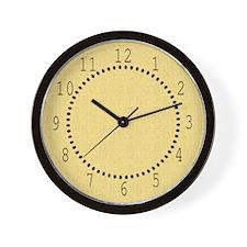 Yellow Linen Look Wall Clock