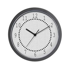 Gray Linen Look Wall Clock