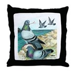 Rock Doves Throw Pillow