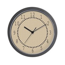 Tan Linen Look Wall Clock