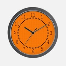 Orange Satin Look Wall Clock