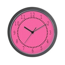 Eclectic Pink Satin Look Wall Clock