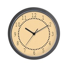 Tan Satin Look Wall Clock
