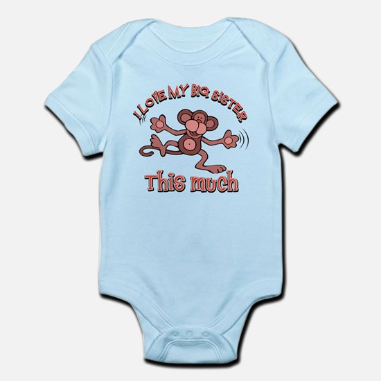 I love my big sister this much Infant Bodysuit