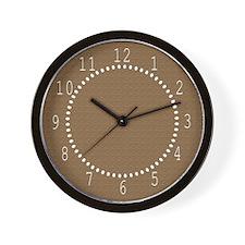 Textured Brown Look Wall Clock