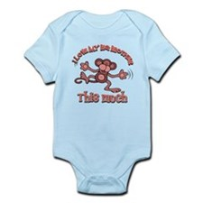 I love my big brother this much Infant Bodysuit