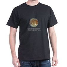 Europa (Jupiter satellite) Black T-Shirt