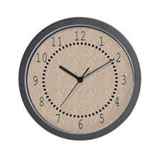 Tan Cement Look Wall Clock