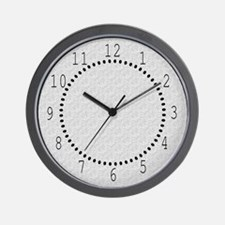 Textured Light Gray Look Wall Clock