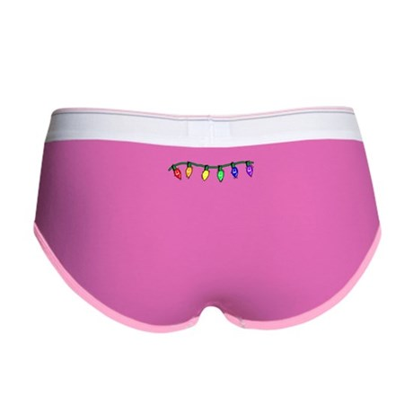 Rainbow Christmas Lights Women's Boy Brief