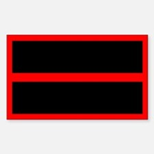 Thin Red Line Sticker (Rectangle)