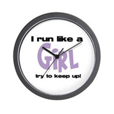 I run like a girl try to kee Wall Clock