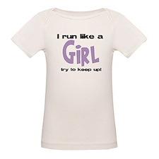 I run like a girl try to kee Tee