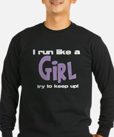I run like a girl try to kee T