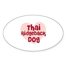 Thai Ridgeback Dog Oval Decal