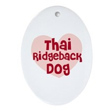 Thai Ridgeback Dog Oval Ornament