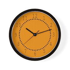 Orange Linen Look Wall Clock