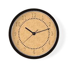 Tan Parchment Look Wall Clock