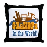 Tools Best Grandpa Throw Pillow