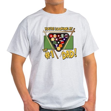 Pool/Billiards #1 Dad Light T-Shirt