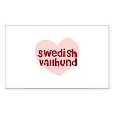 Swedish Vallhund Rectangle Decal