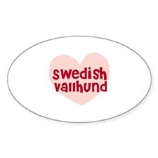 Swedish Vallhund Oval Decal