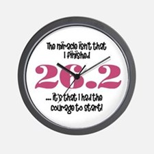 26.2 Courage to Start Wall Clock