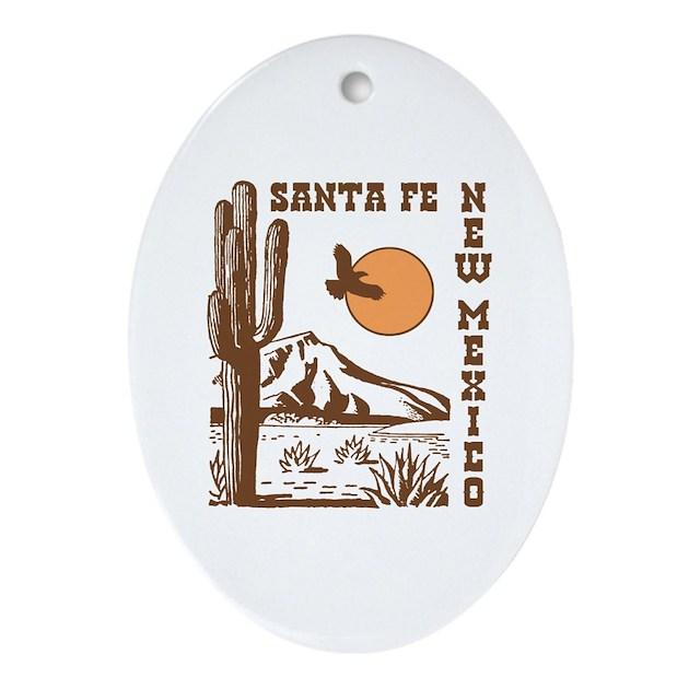 Eyeglass Frames Santa Fe Nm : Santa Fe New Mexico Ornament (Oval) by ilovemystate