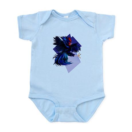 Black Fighting Rooster Infant Bodysuit