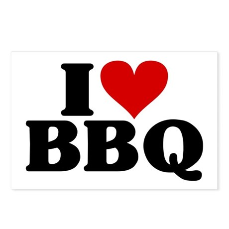 I Heart BBQ Postcards (Package of 8)