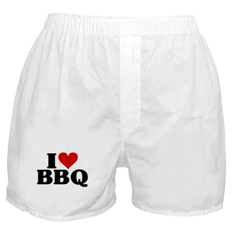 I Heart BBQ Boxer Shorts