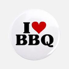 "I Heart BBQ 3.5"" Button"