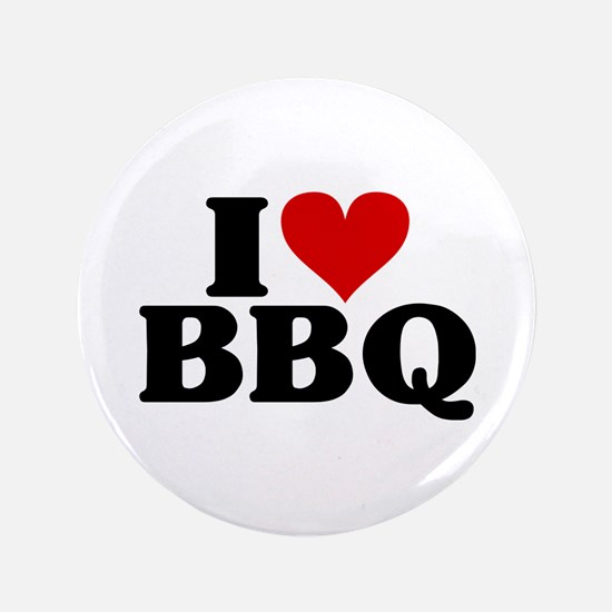 "I Heart BBQ 3.5"" Button"