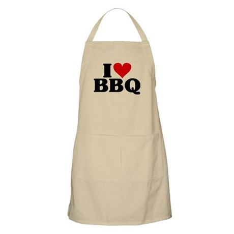 I Heart BBQ Apron