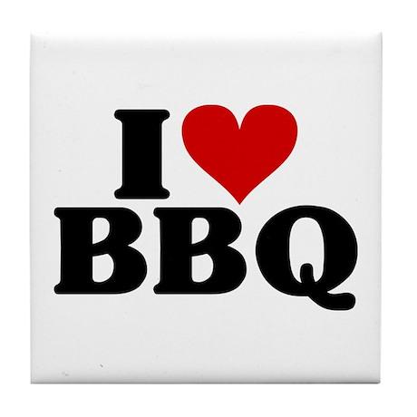 I Heart BBQ Tile Coaster