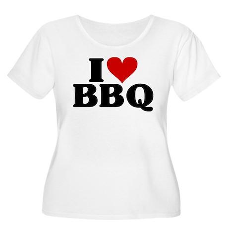 I Heart BBQ Women's Plus Size Scoop Neck T-Shirt