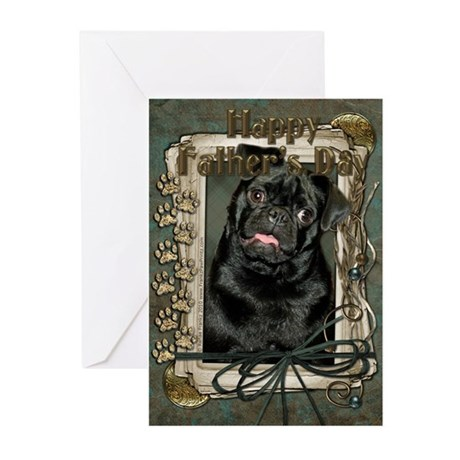 Stone Paws Pug Greeting Cards (Pk of 20)