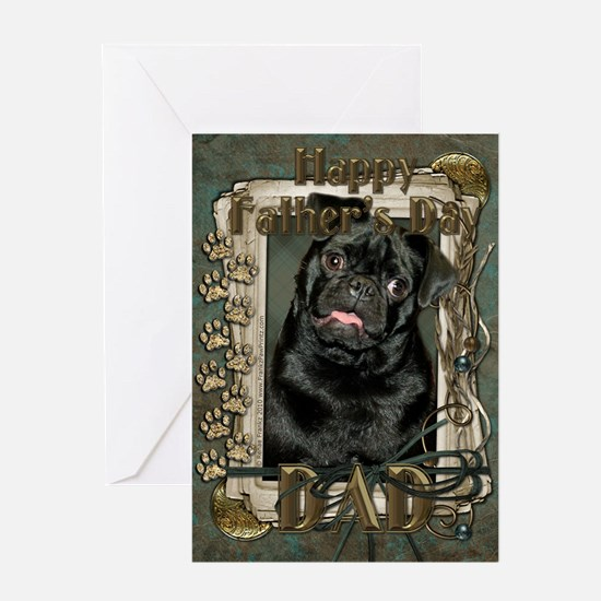 Stone Paws Pug Greeting Card