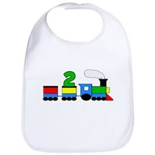 2nd Birthday Train Bib