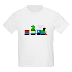 2nd Birthday Train Kids Light T-Shirt