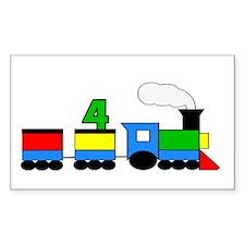 4th Birthday Train Decal