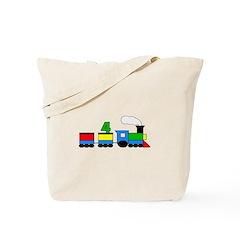 4th Birthday Train Tote Bag