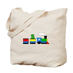 5th Birthday Train Tote Bag