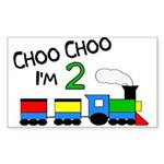 Choo Choo I'm 2 TRAIN Sticker (Rectangle)