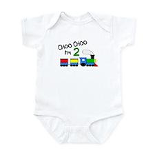 Choo Choo I'm 2 TRAIN Infant Bodysuit