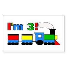 I'm 3! Train Decal