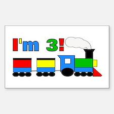 I'm 3! Train Decal