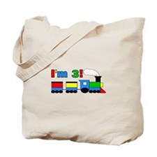 I'm 3! Train Tote Bag