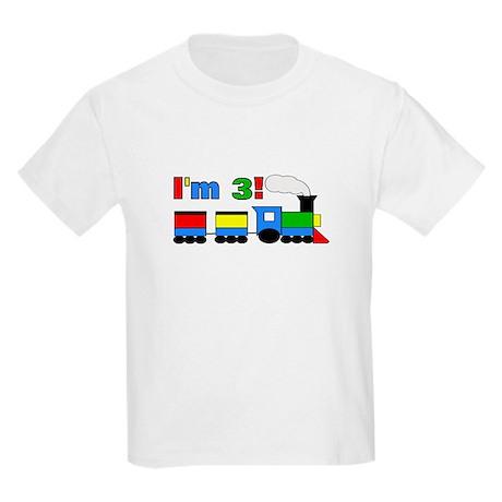 I'm 3! Train Kids Light T-Shirt